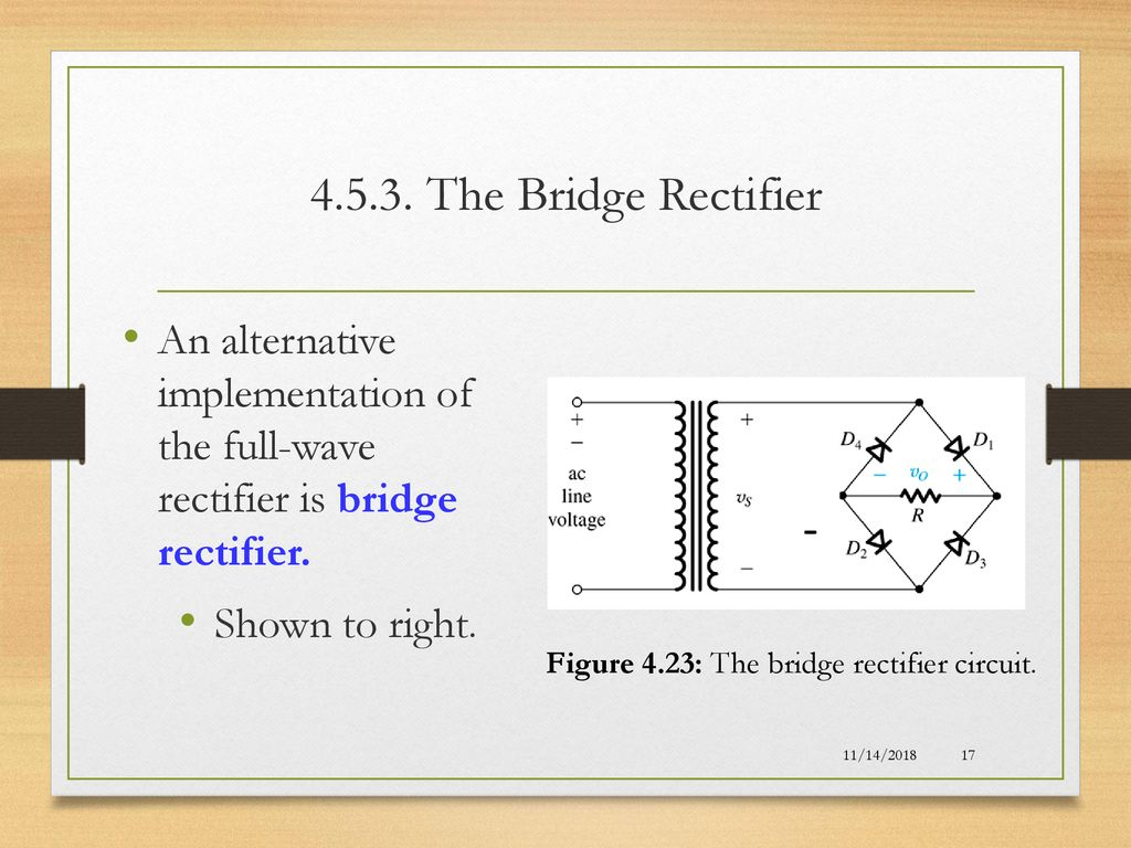 Lecture 05 Diodes Applications Special Diode Types Ppt Download Full Wave Bridge Rectifier Circuit Diagram Figure 423 The