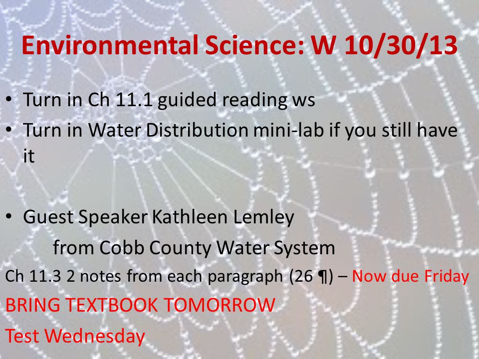 Environmental Science - ppt download
