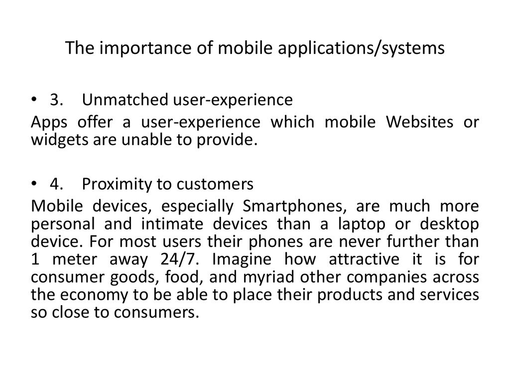 Why mobile applications/systems important? - ppt download