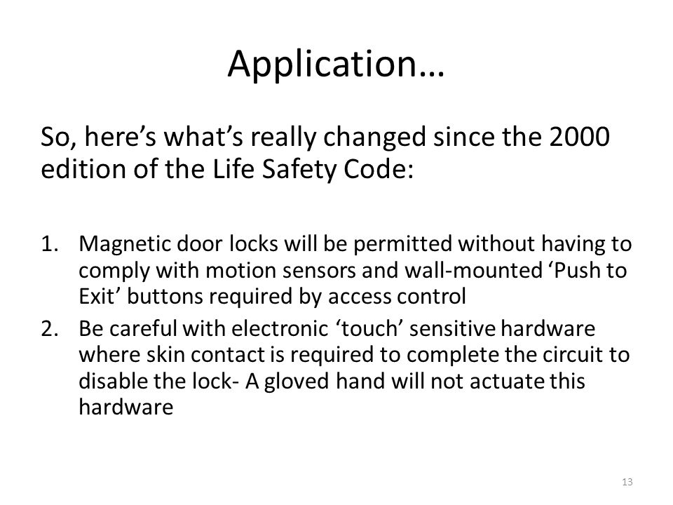 Changes to Life Safety Compliance - ppt download