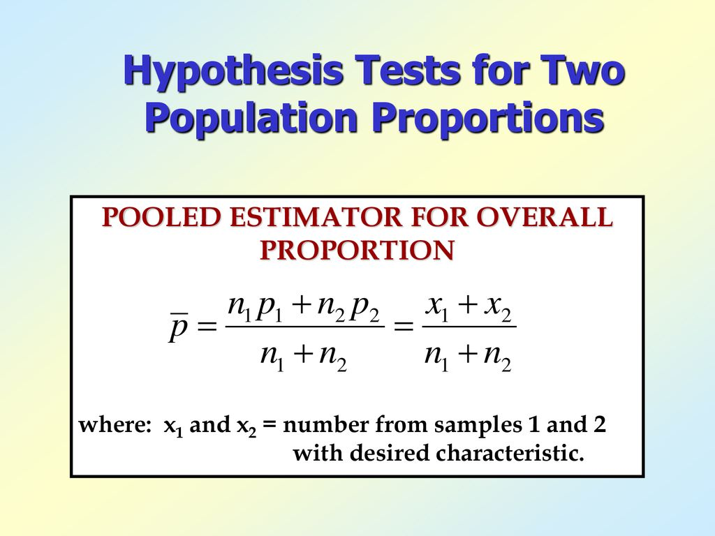 Hypothesis Tests for Two Population Proportions   ppt download