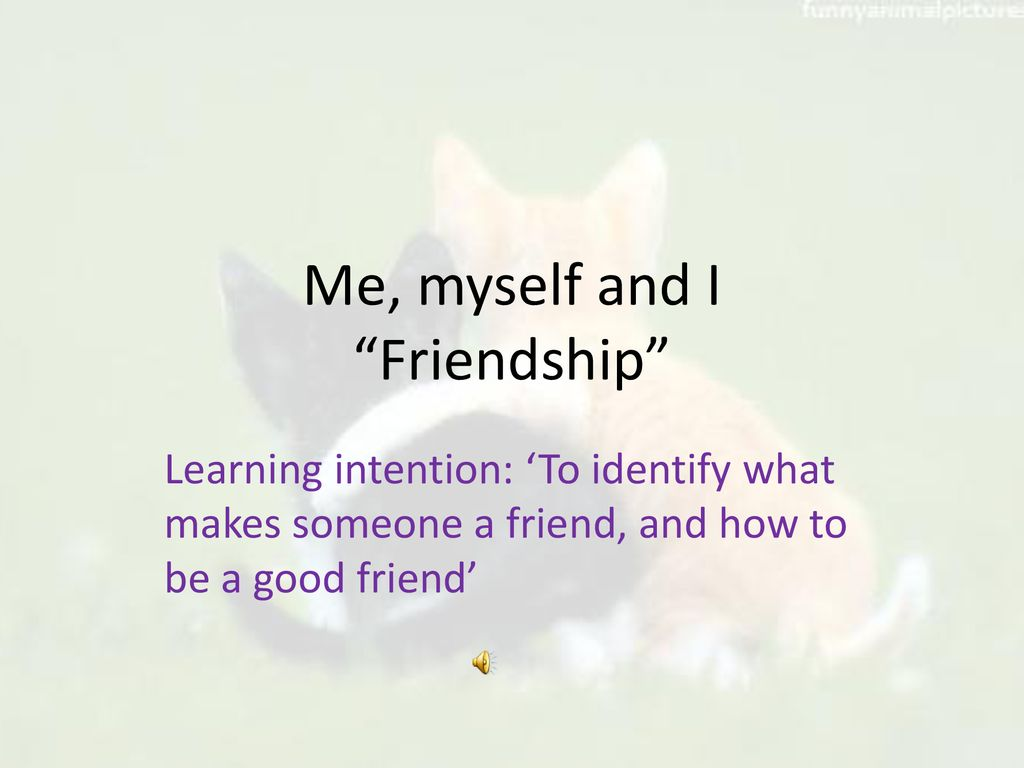 Me Myself And I Friendship Ppt Download