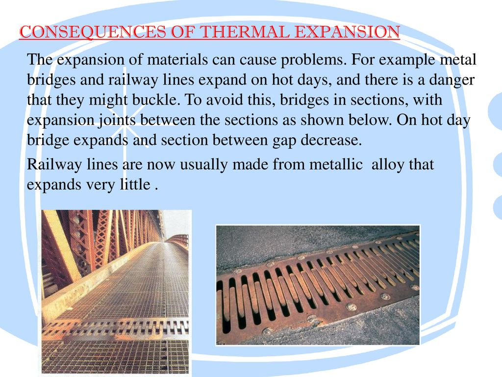 consequences of thermal expansion
