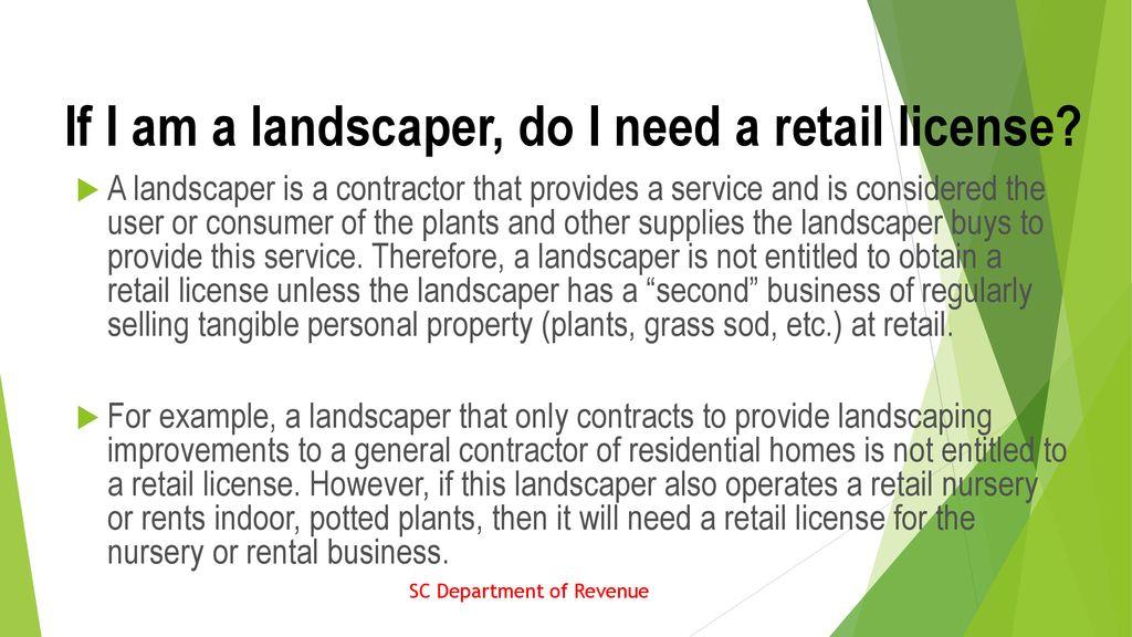 hrt 171 landscape business. - ppt download
