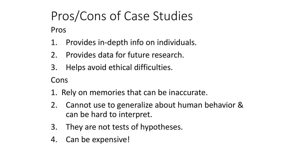 pros and cons of case studies