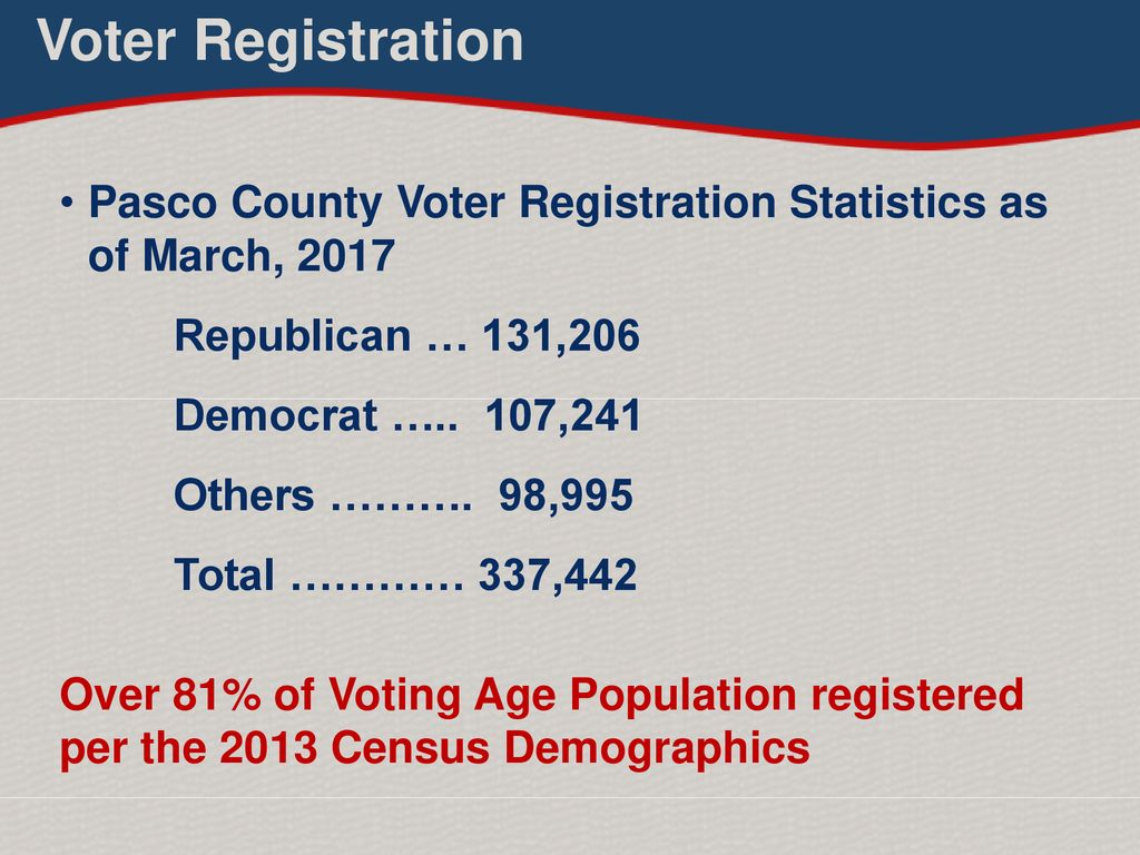 Pasco county voter registration