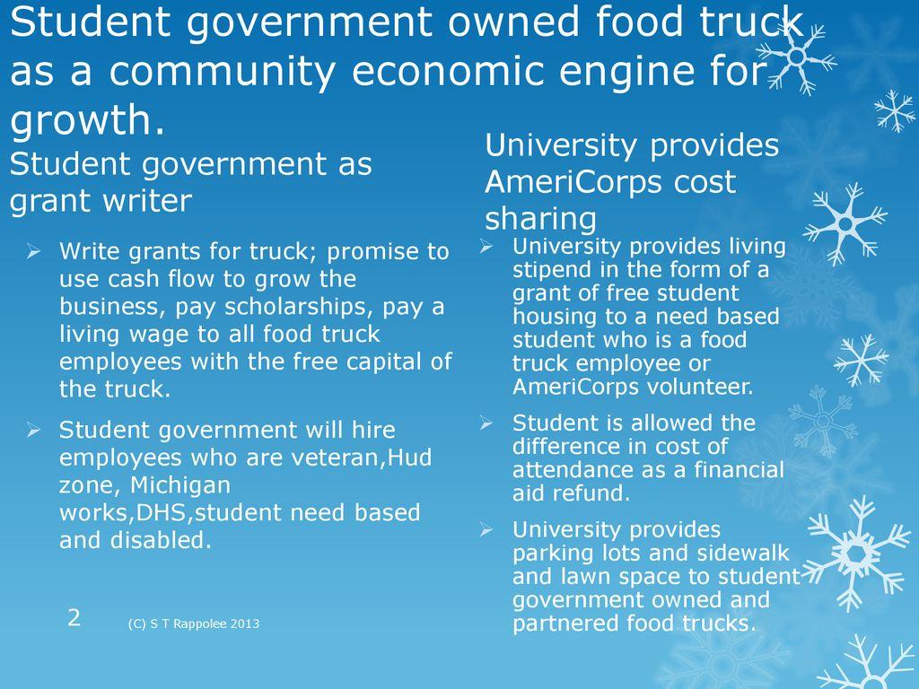 Food truck entrepreneurship program as a community