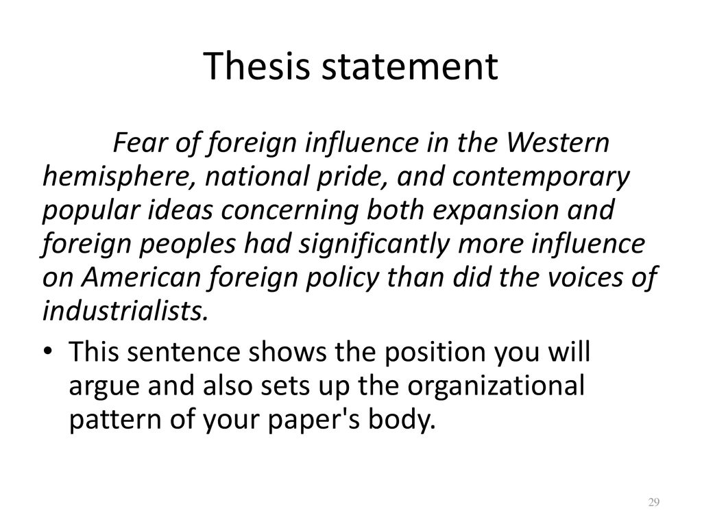 Foreign policy thesis ideas thesis claim lead in data warrant