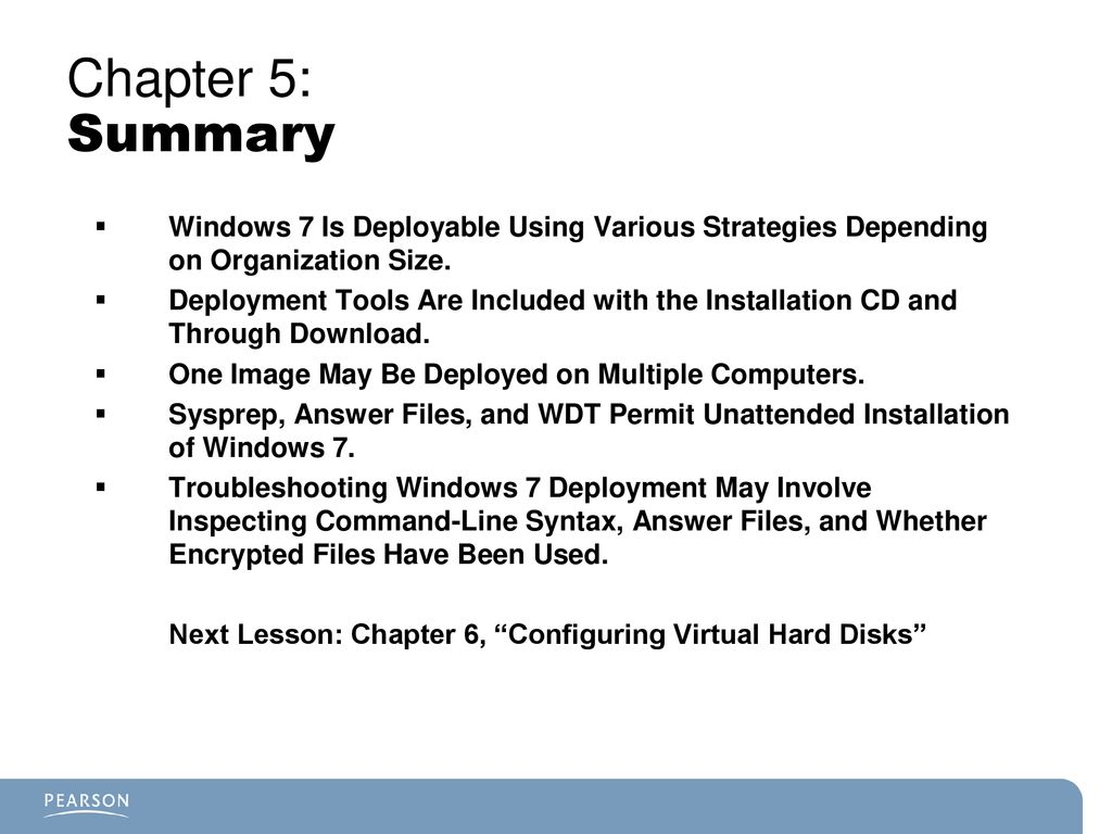 Chapter 5 Objectives Understand How to Plan a Windows 7