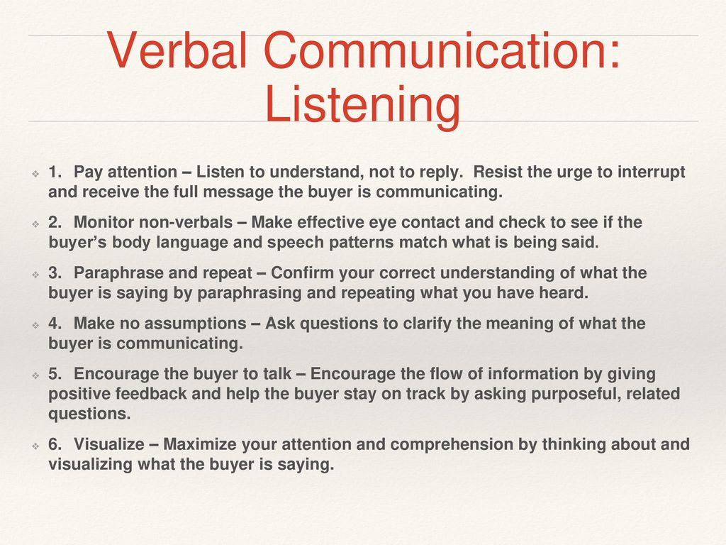 verbal confirmation meaning