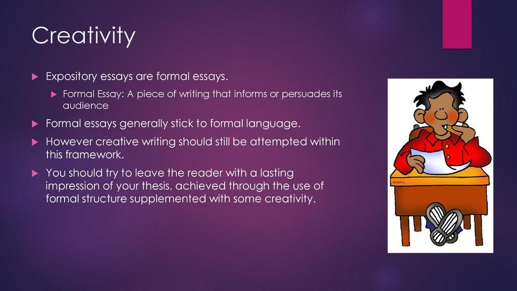 formal expository essay