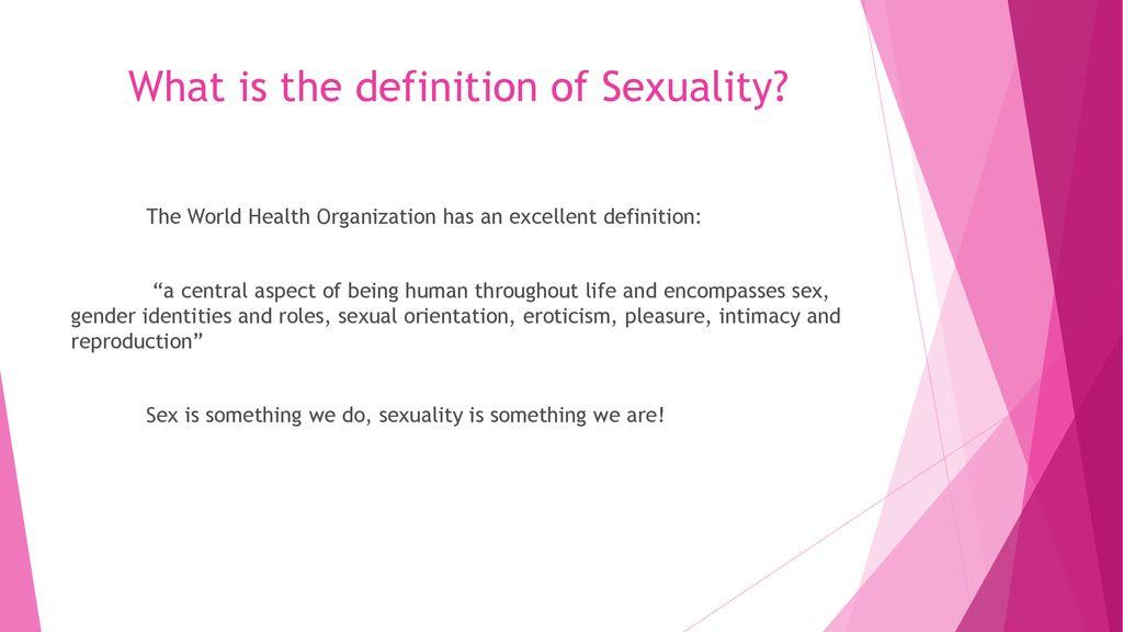 Sexual pleasure definition