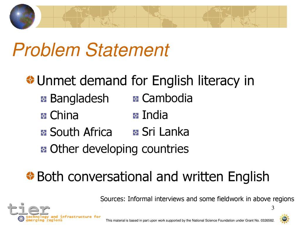 english literacy in india