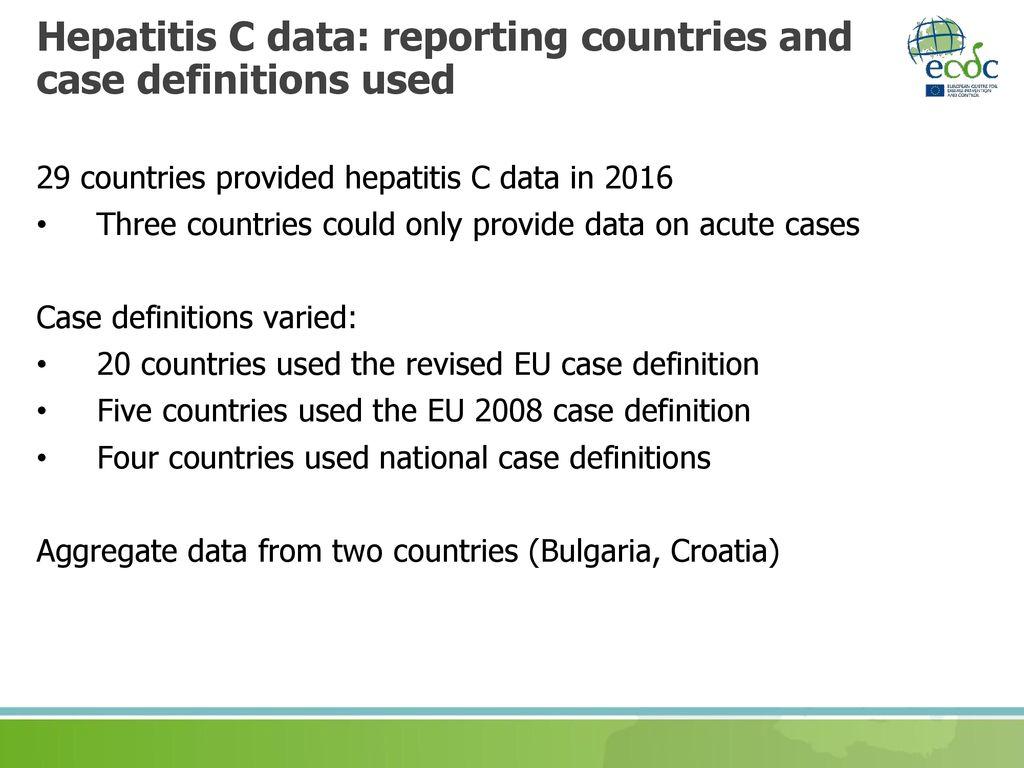 surveillance of hepatitis b and c in the eu/eea – 2016 data - ppt