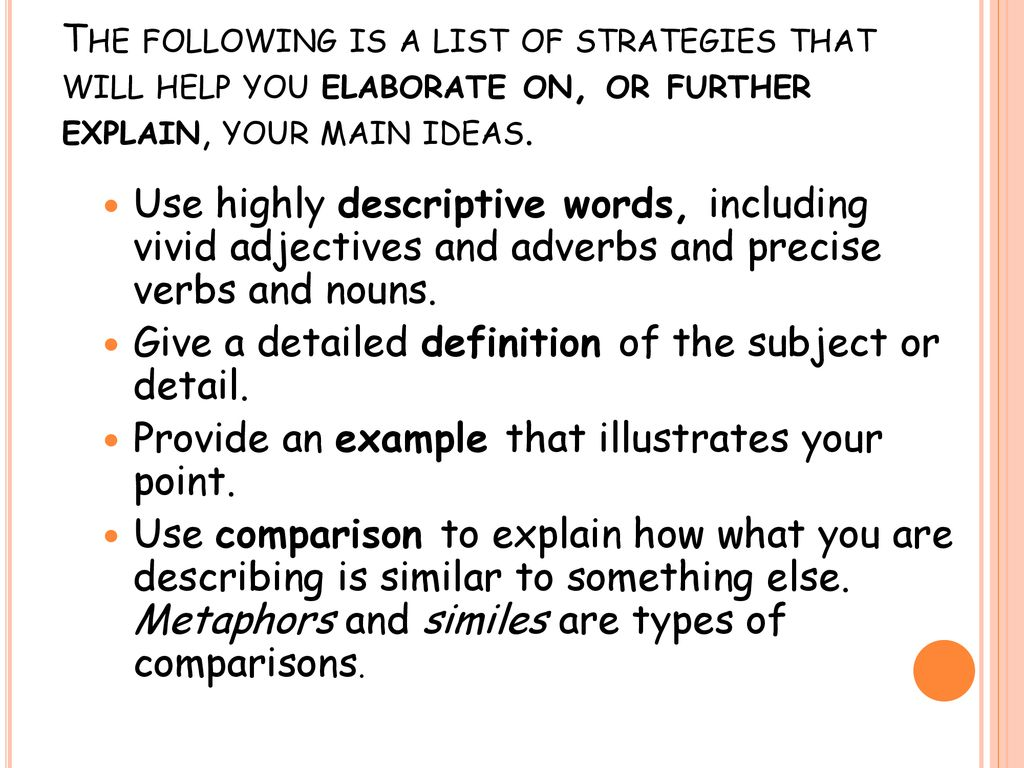 vivid adjectives examples