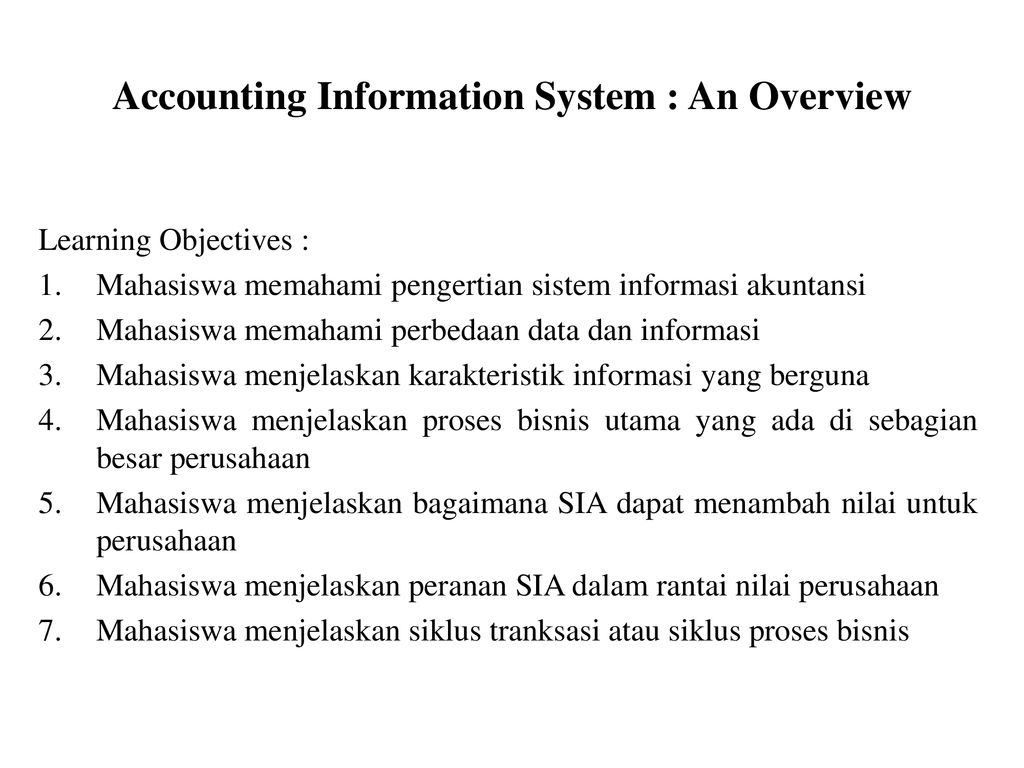 ACCOUNTING INFORMATION SYSTEM - ppt download