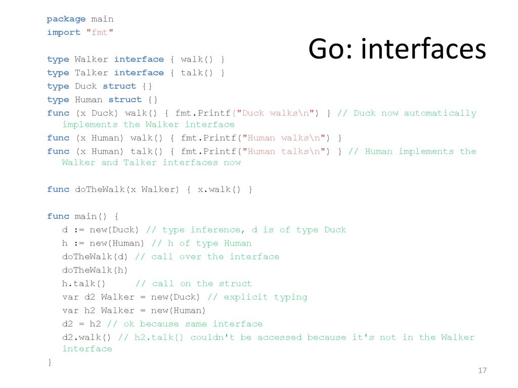 Type system of Go/C# Seminar - ppt download