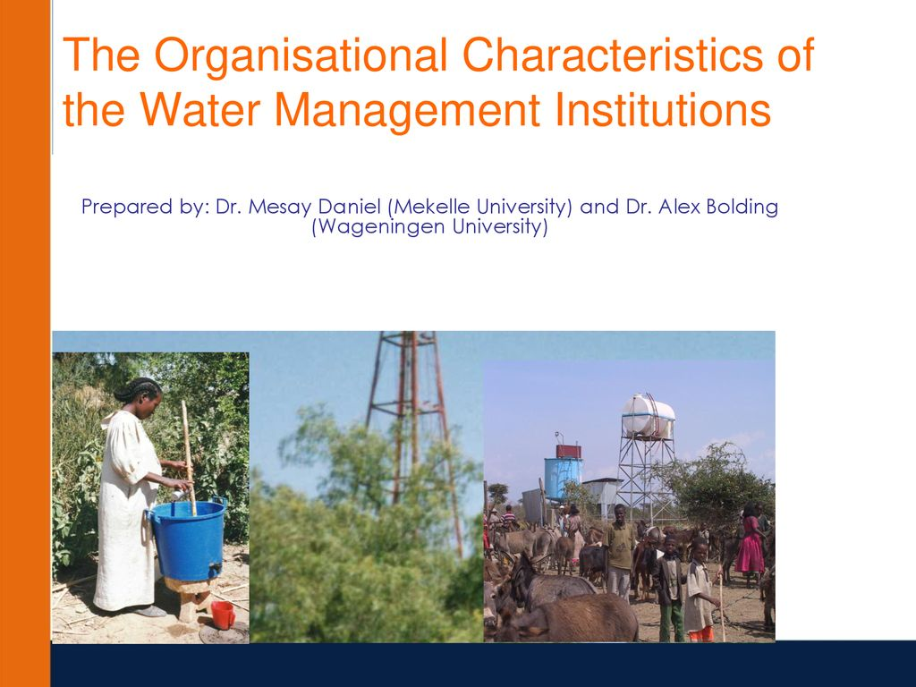 Water Management Institutions and Reforms Course - ppt download