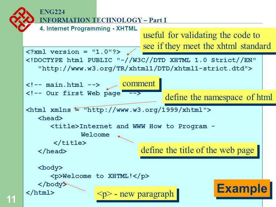 4 Internet Programming ENG224 INFORMATION TECHNOLOGY Part I Ppt