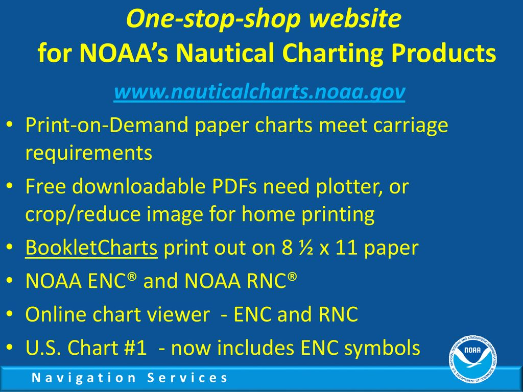 NOAA's Nautical Charting Products and Services - ppt download