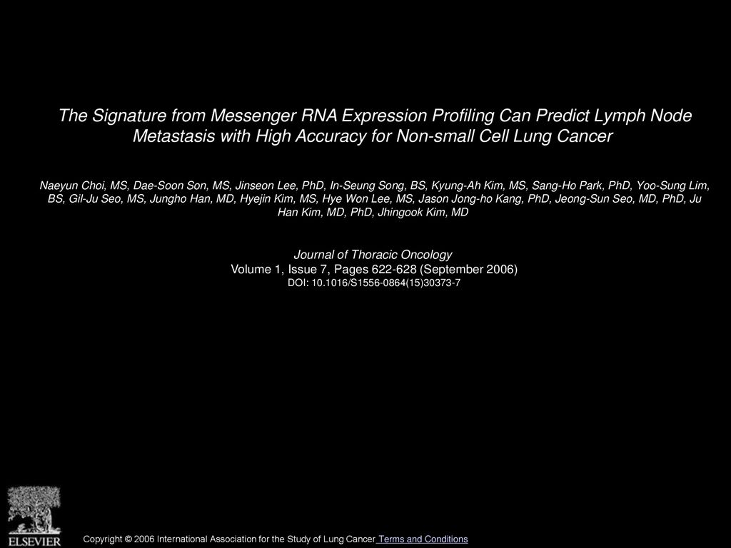 The Signature from Messenger RNA Expression Profiling Can