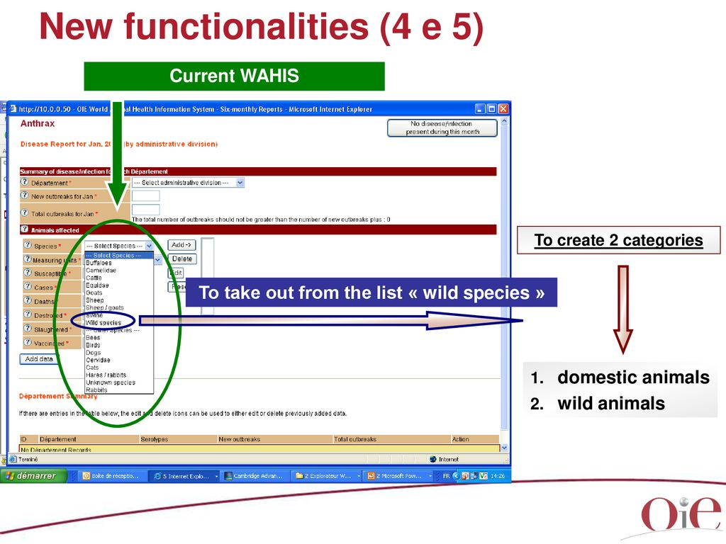 Evolution of WAHIS and its interface WAHID - ppt download