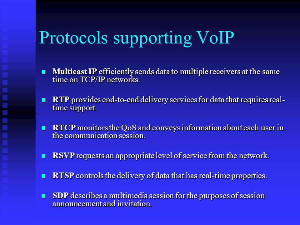 Protocols supporting VoIP