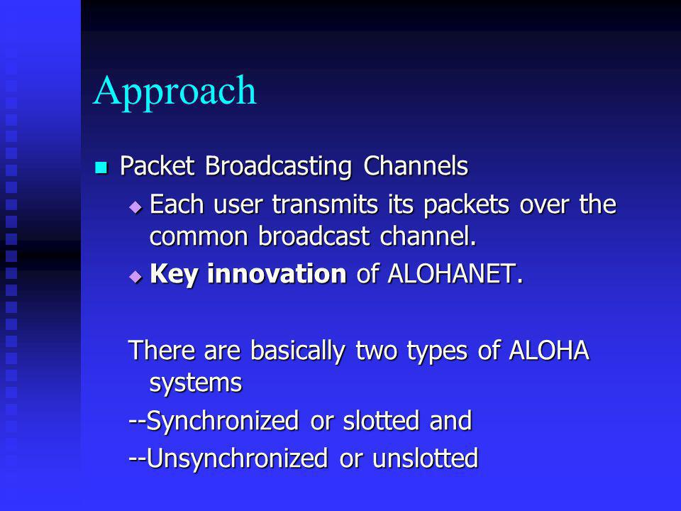 Approach Packet Broadcasting Channels