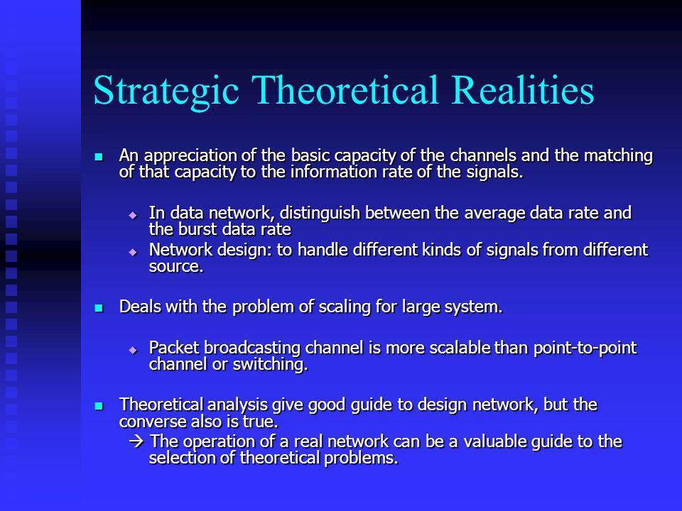 Strategic Theoretical Realities