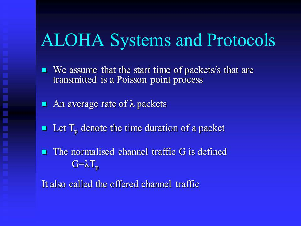 ALOHA Systems and Protocols