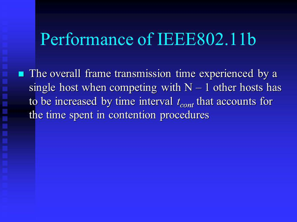 Performance of IEEE802.11b