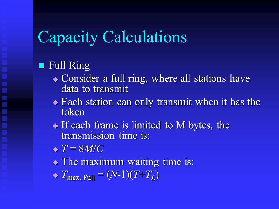 Capacity Calculations