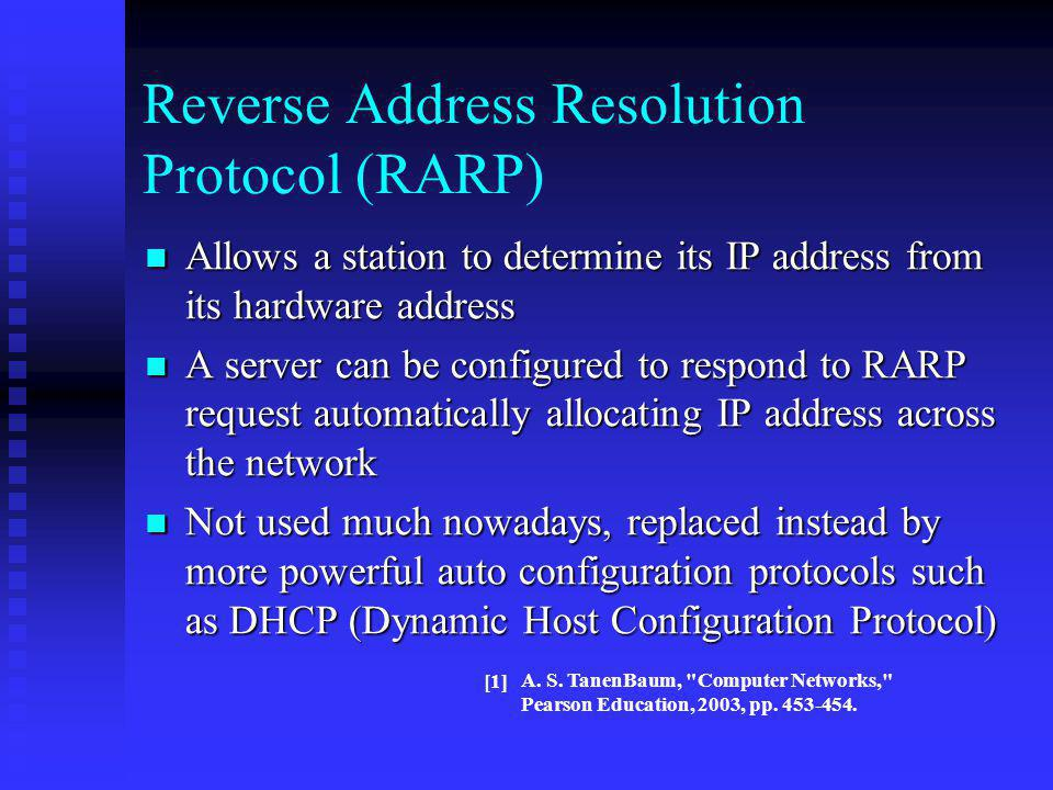Reverse Address Resolution Protocol (RARP)