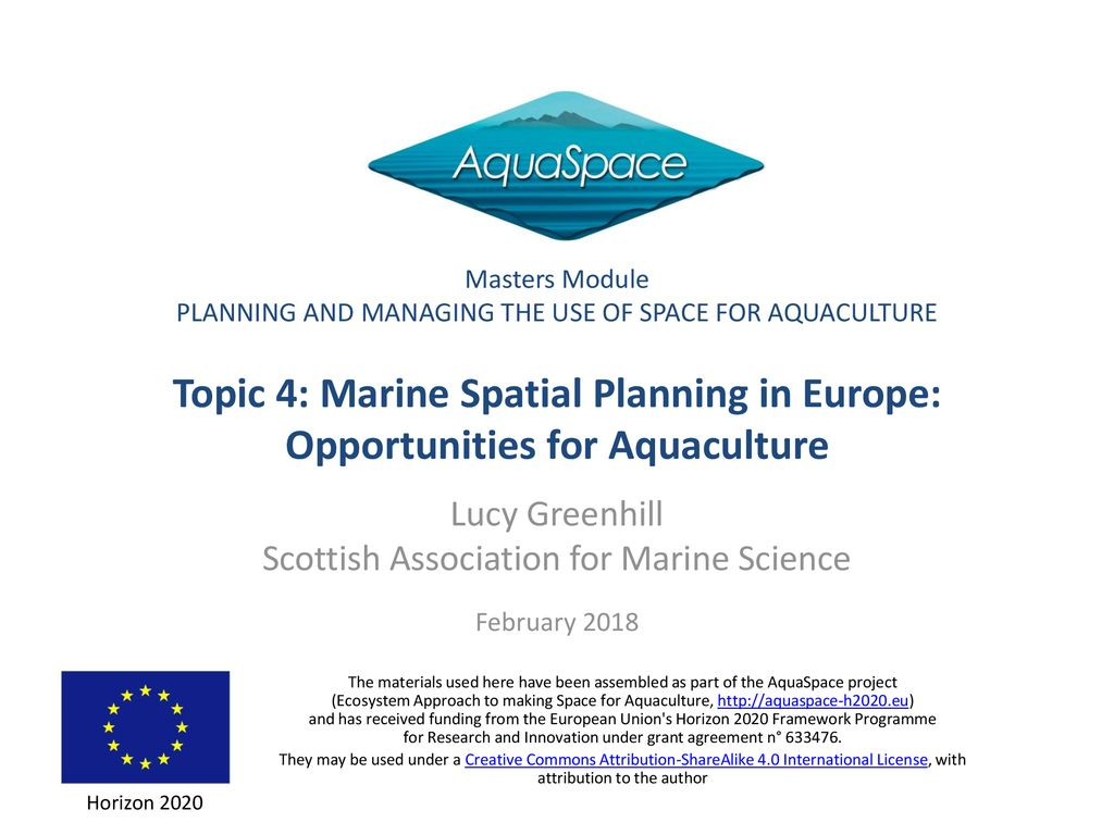 Masters Module PLANNING AND MANAGING THE USE OF SPACE FOR
