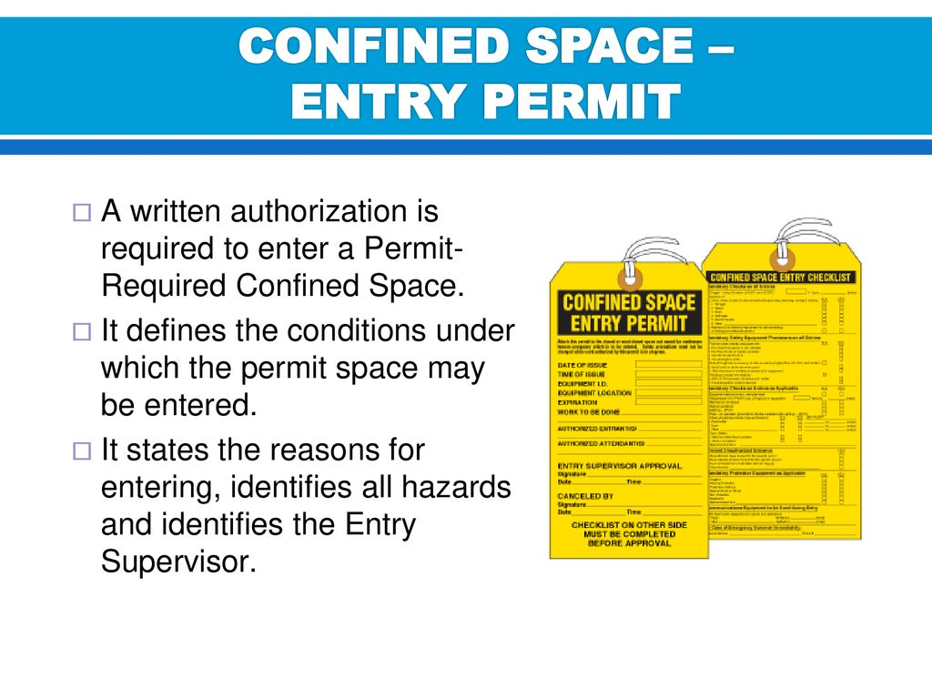 CONFINED SPACE / RESPIRATORY PROTECTION - ppt download