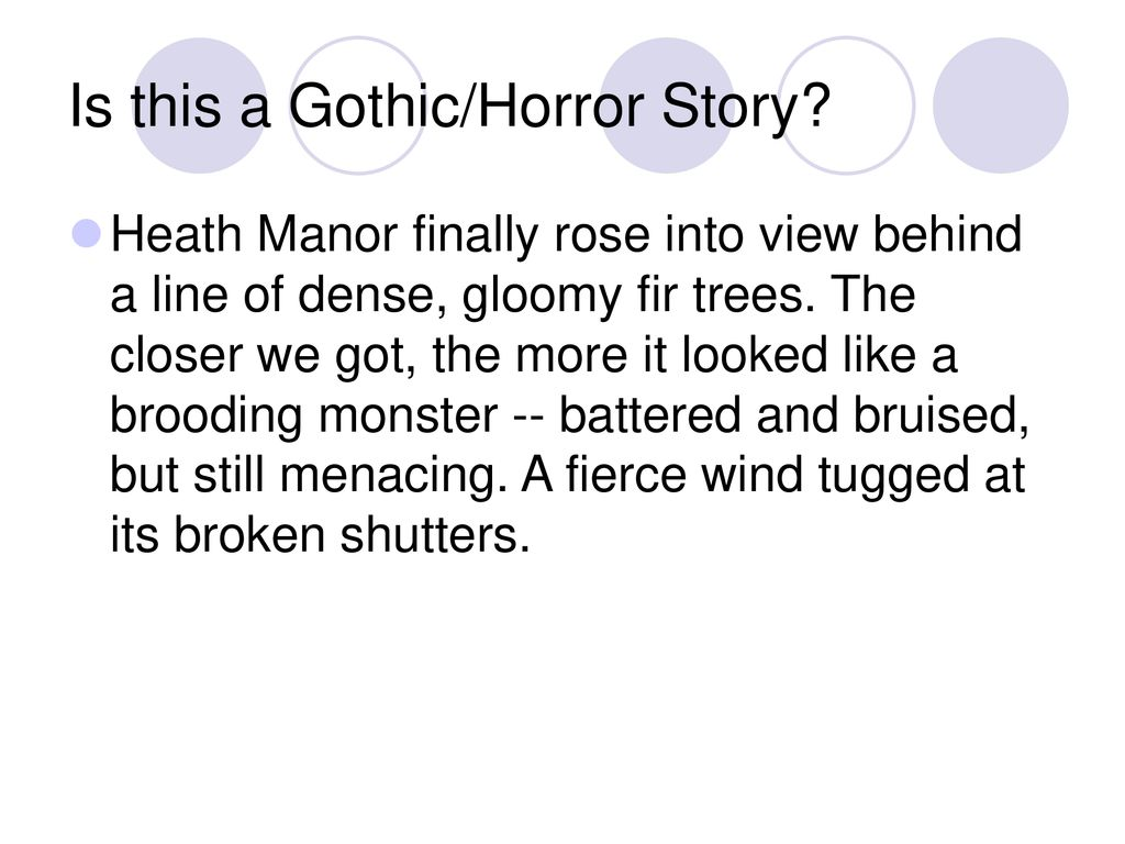 what is a gothic horror story