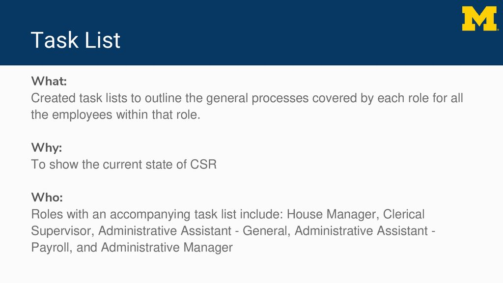 redesign of workflow for the central staffing resources department