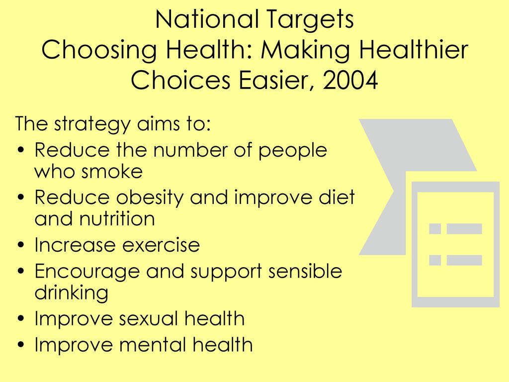 choosing health making healthy choices easier 2004