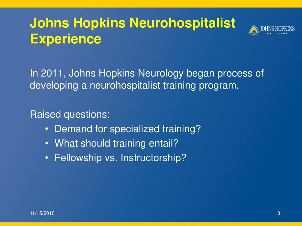 Concrete Actions: Johns Hopkins Neurology Neurohospitalist Advanced
