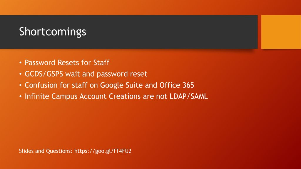 Local AD, Azure AD, & Google Suite User Management - ppt