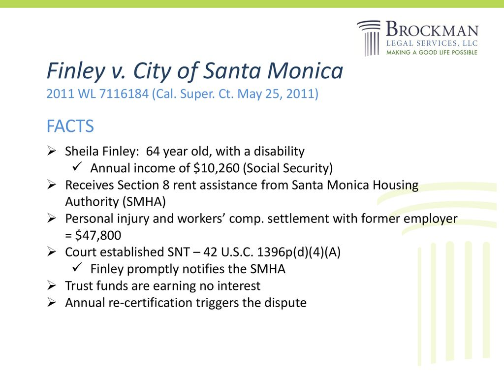 SECTION 8 and SPECIAL NEEDS TRUSTS - ppt download