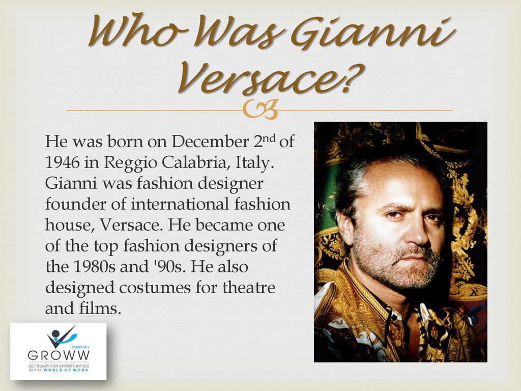 Gianni Versace Ppt Download