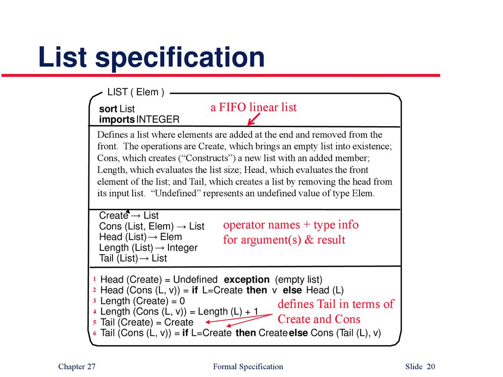 Chapter 27 Formal Specification  - ppt download