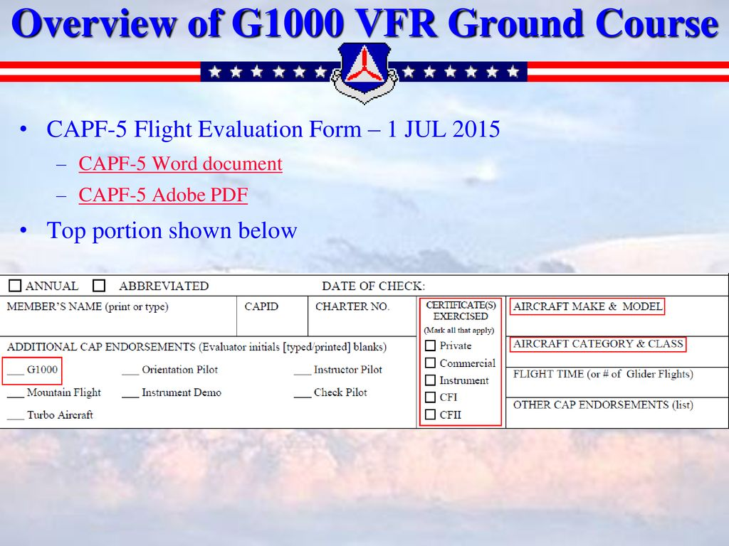 Civil Air Patrol – New Jersey Wing G1000 Presentation For