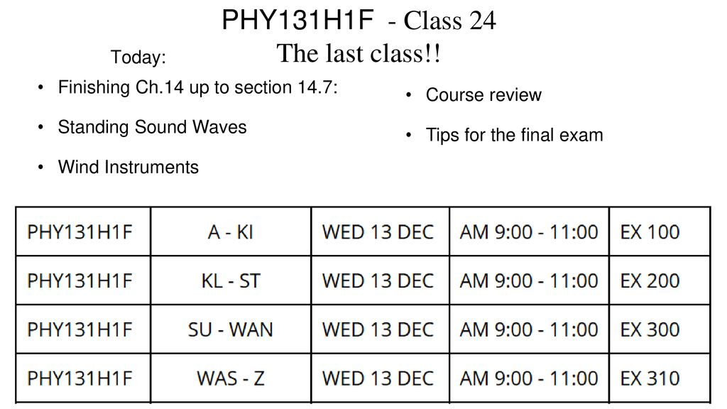 PHY131H1F - Class 24 The last class!! - ppt download