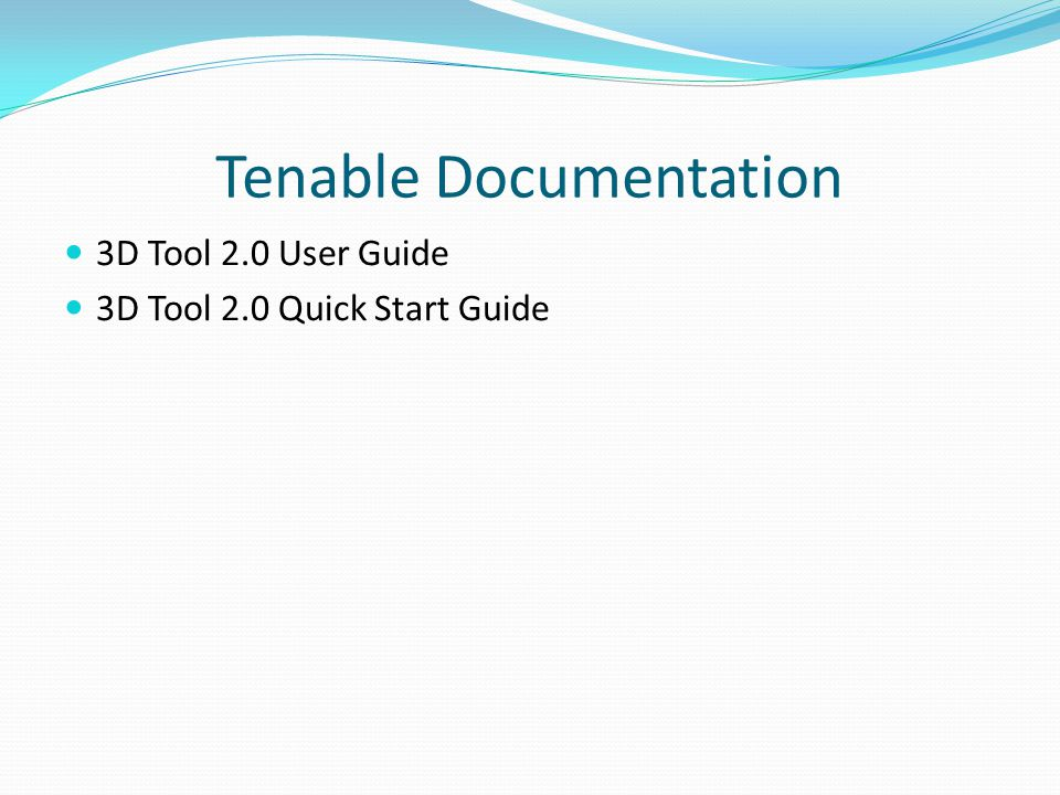3D Tool Examples Dave Breslin Tenable Discussions Forum) - ppt video