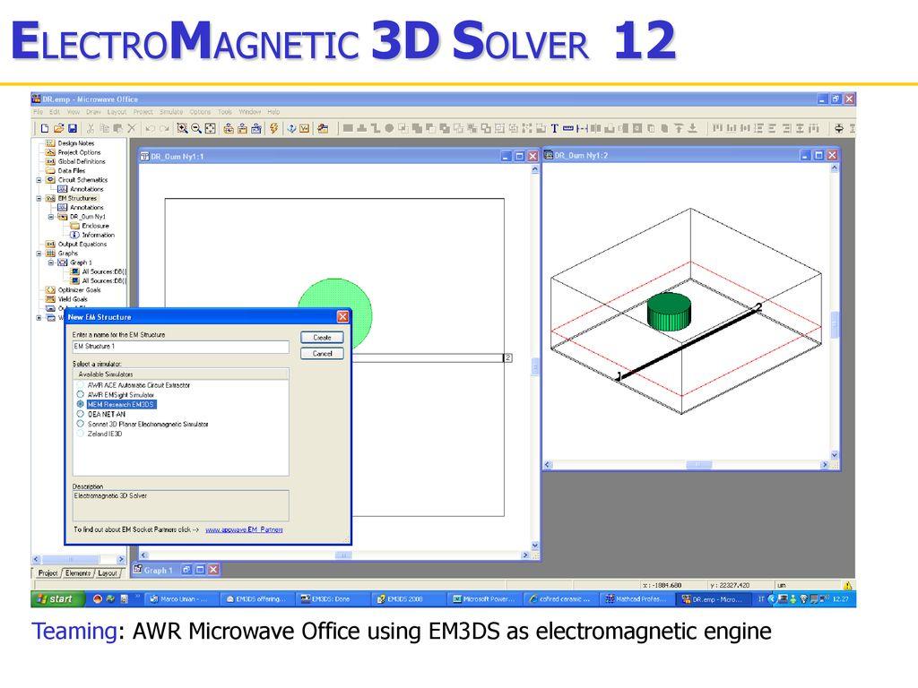 12 Now 64 bit technology ELECTROMAGNETIC 3D SOLVER - ppt download