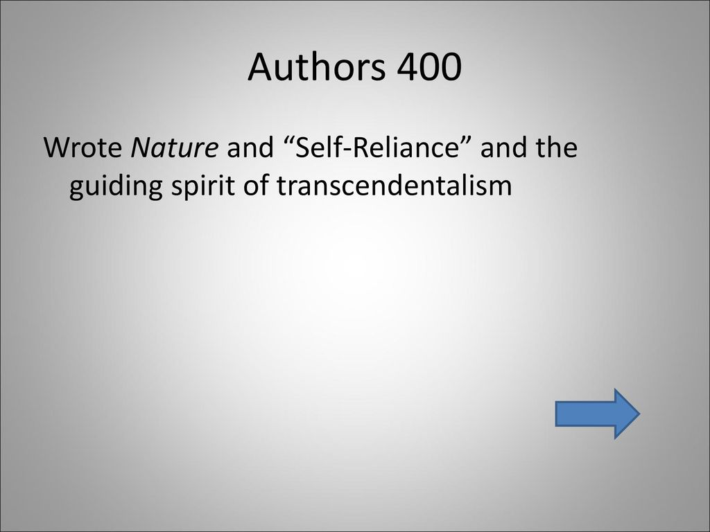 who wrote self reliance