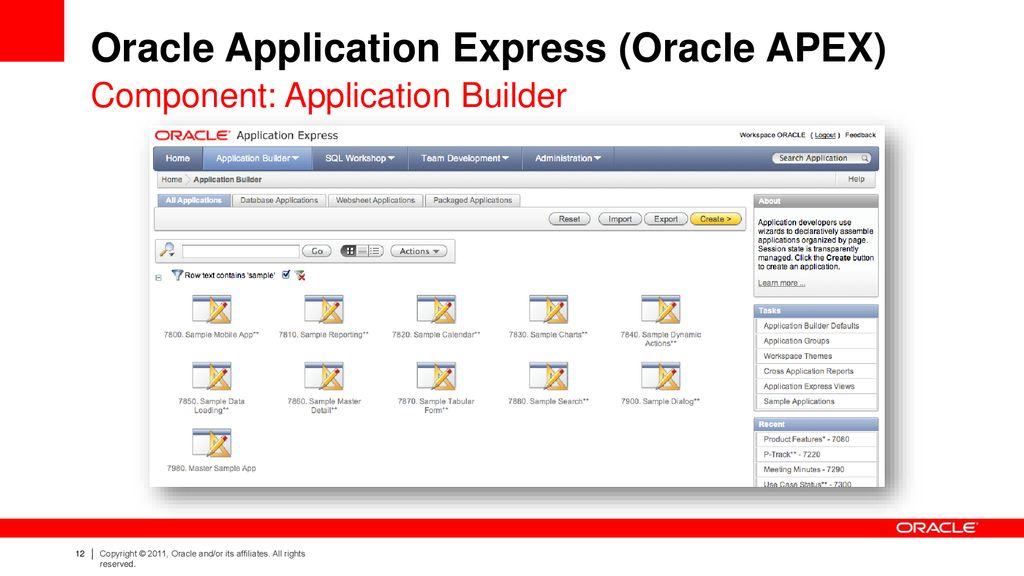 Oracle Apex Sample Applications