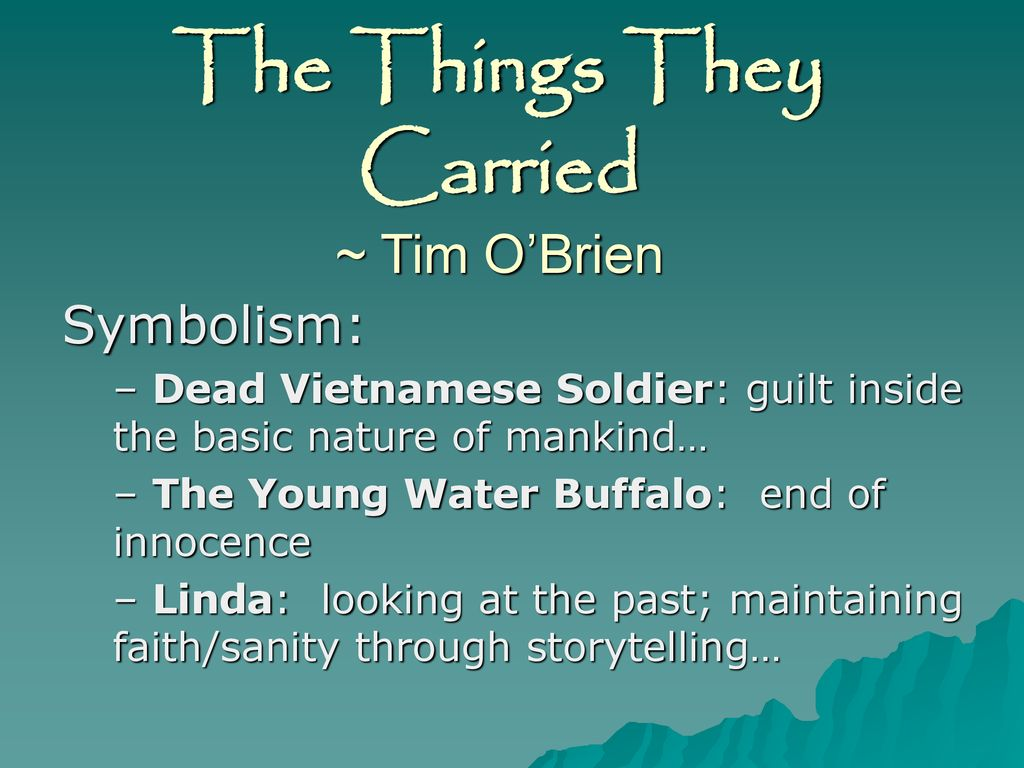 linda the things they carried